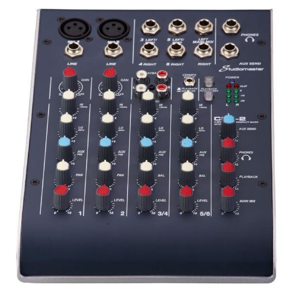 Studiomaster C2-2 2 Mic + 2 Stereo Ultra Compact Mixer - C2-2 - New Boxed
